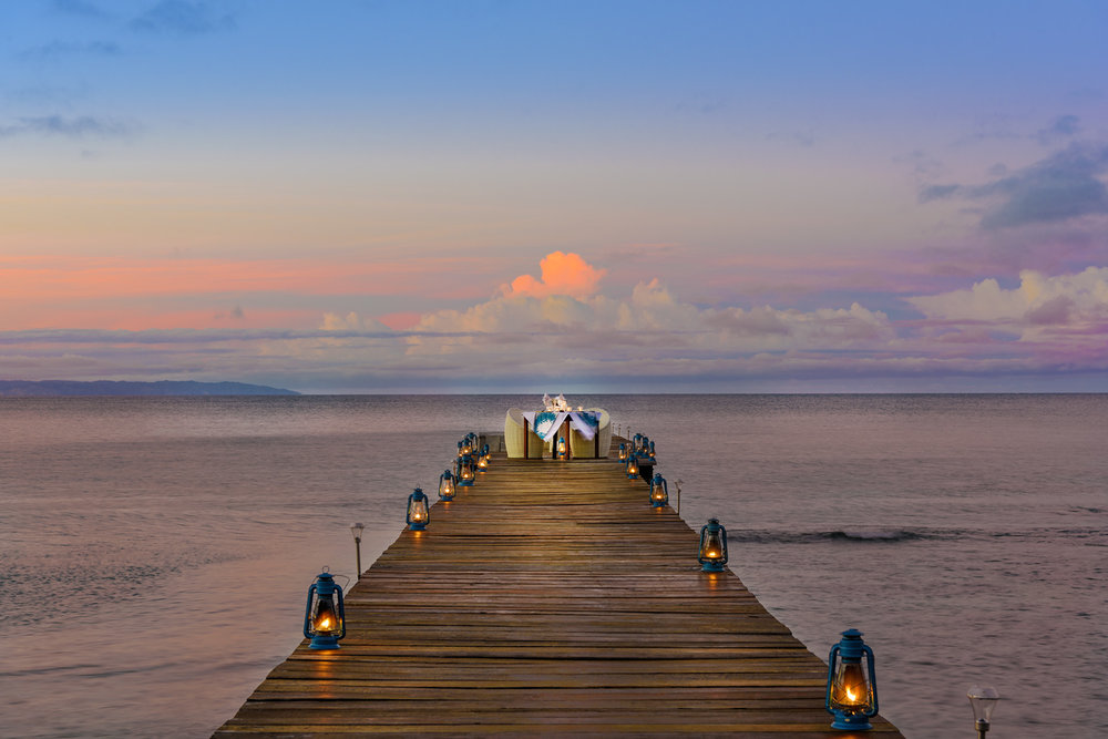 Private dining on the jetty at The Remote Resort, Fiji Islands