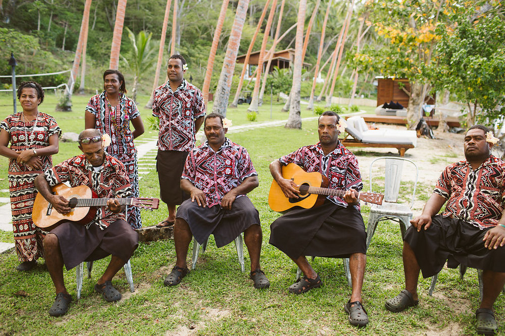 Fijian Wedding Serenaders - The Remote Resort Fiji Islands - Luxury wedding or elopement