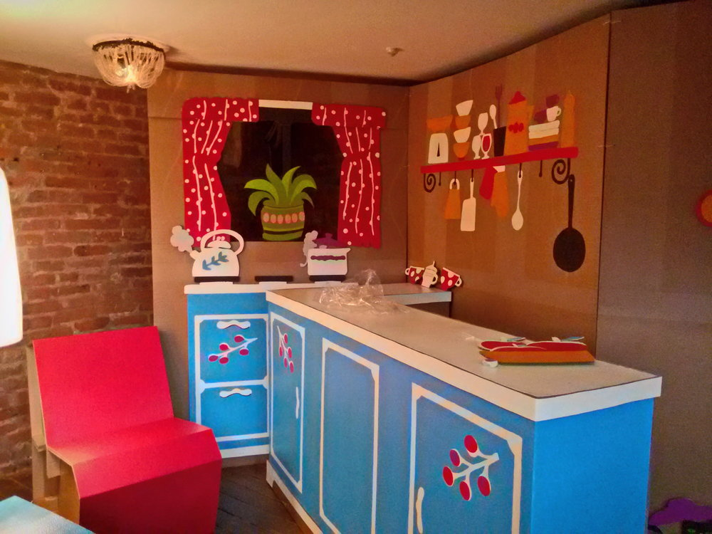 Картонная кухня