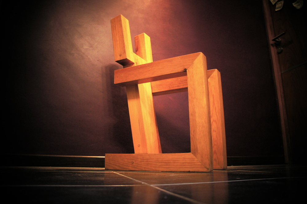 Wooden chair prototype.