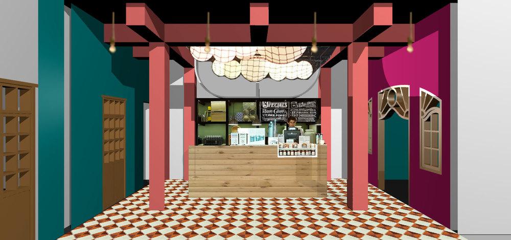 Café interior concept.