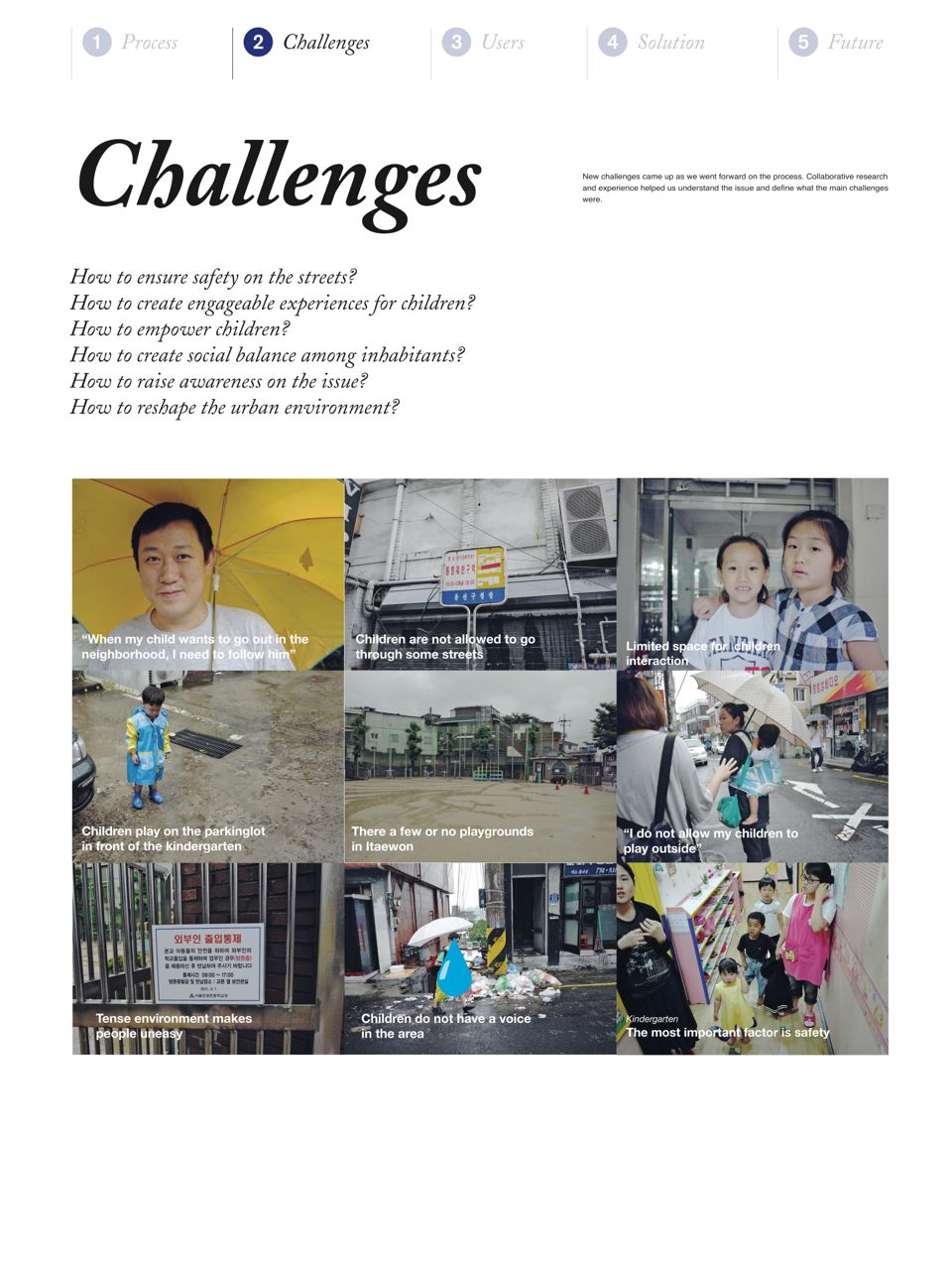 Different challenges were found when exploring Itaewon.
