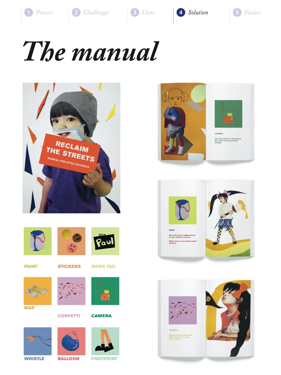 The Little Activists manual includes guidelines on how to use the tools.