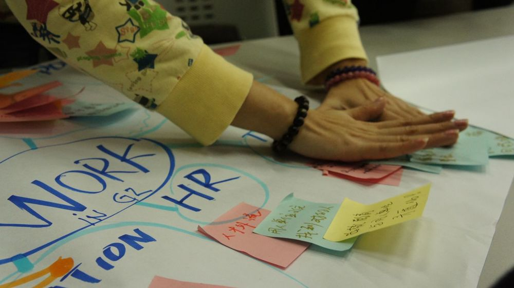 Mind mapping was used to define a design challenge.