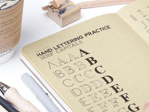 HAND LETTERING PRACTICE SHEET - SERIF CAPITALS — IAN BARNARD