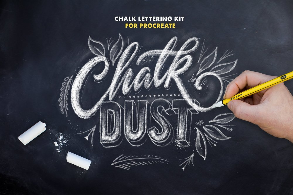 Chalk Lettering Kit for Procreate