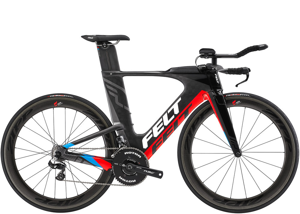 TT/TRI Triathlon is where it all started. Since 1991 Jim Felt has been in the wind tunnel designing the fastest bikes possible. The result has been record shattering performances proving Felt sets the standard for fast.