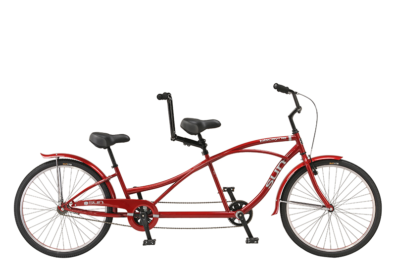 Tandem    If you're ready to hit the town in style for a weekend ride then this bike for two is just for you. Cruising bike paths and boulevards is a pleasure on this retro-styled tandem