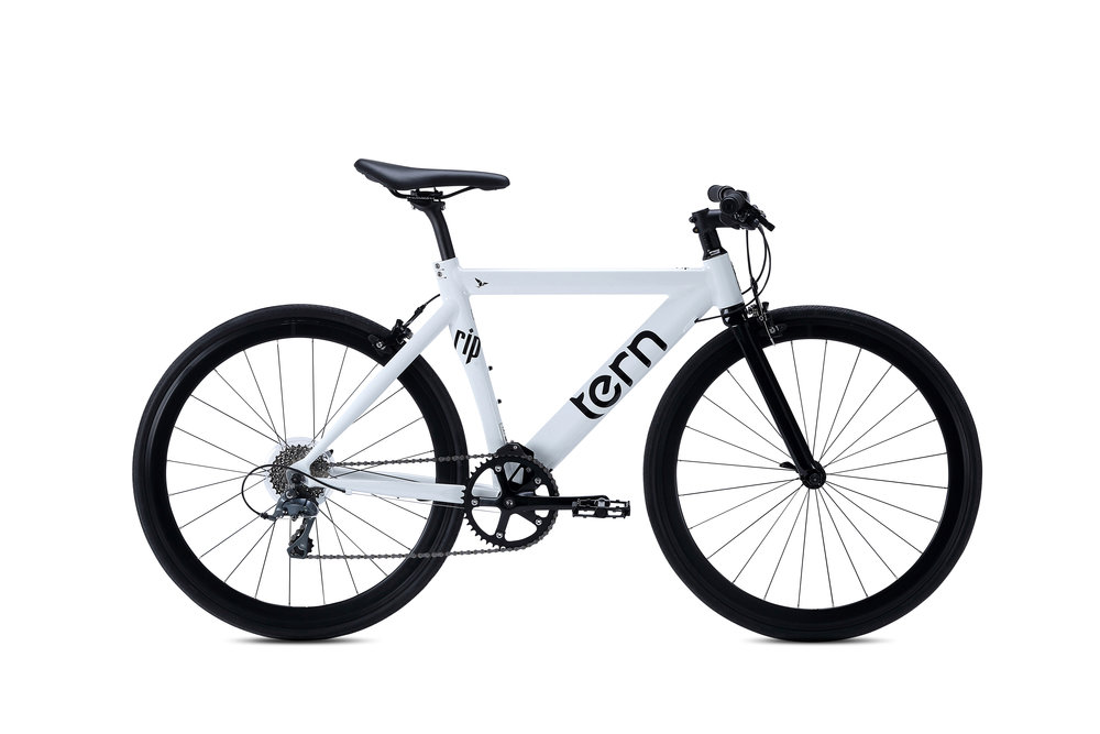 Road    Tern Alloy Road style bikes are very smooth ride thanks to smaller wheels, they're a great fit for tight spaces, and with simple gearing and a host of cargo carrying accessories, they're versatile yet low maintenance.