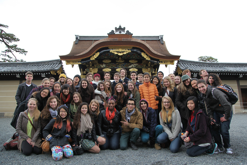 Everyone, together: Kyoto, Japan in February 2014 /Photo courtesy of THINK Global School.