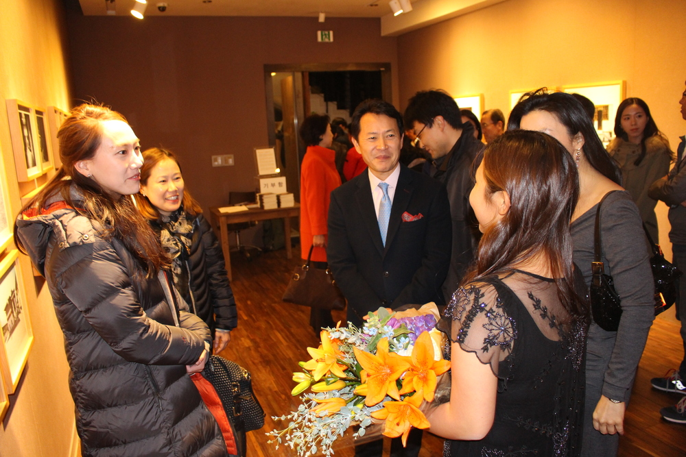 "Opening night at ""The Way They Are,"" Gallery Mark, Nov. 2014"