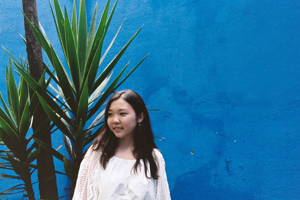 Myself in the courtyard of La Casa Azul, captured by Melissa