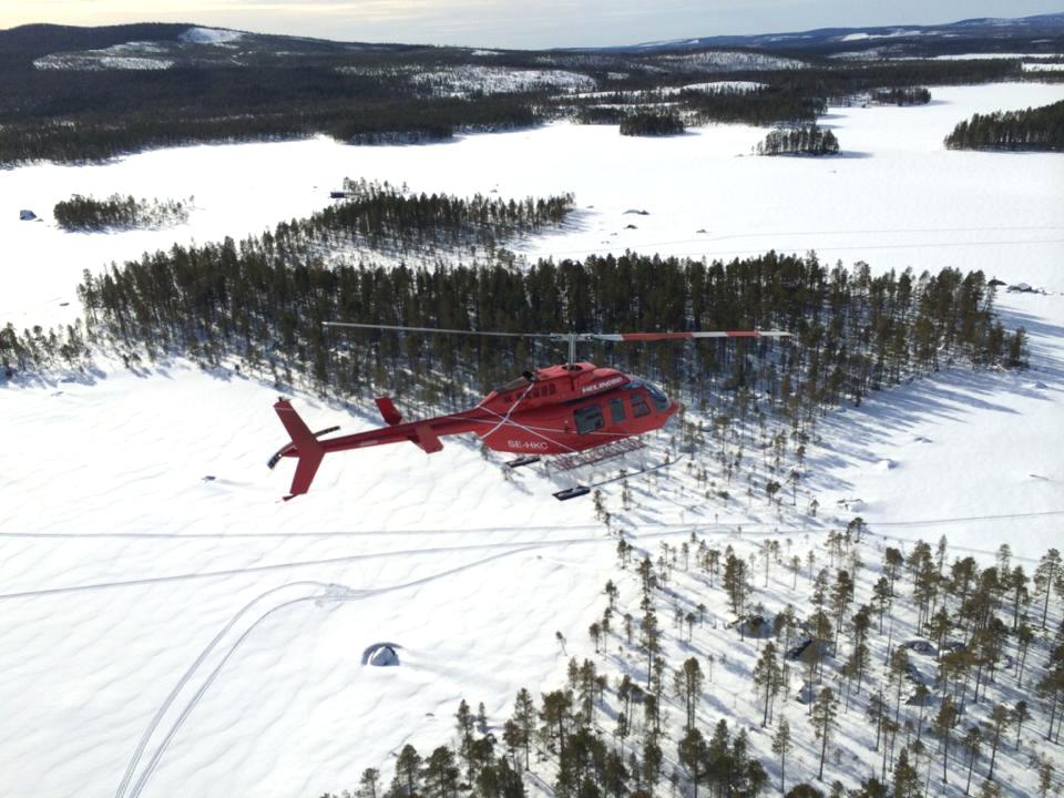 Fotoflygning i området kring Kittelfjäll