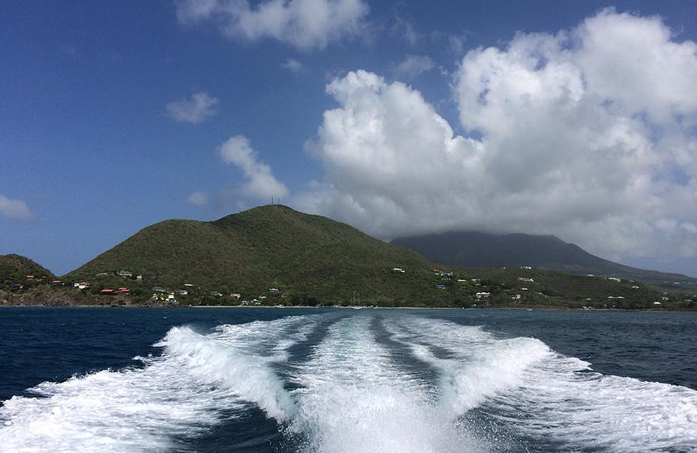 Onboard the boat to Nevis