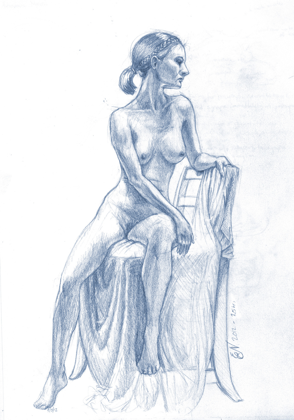 Female Figure Leaning