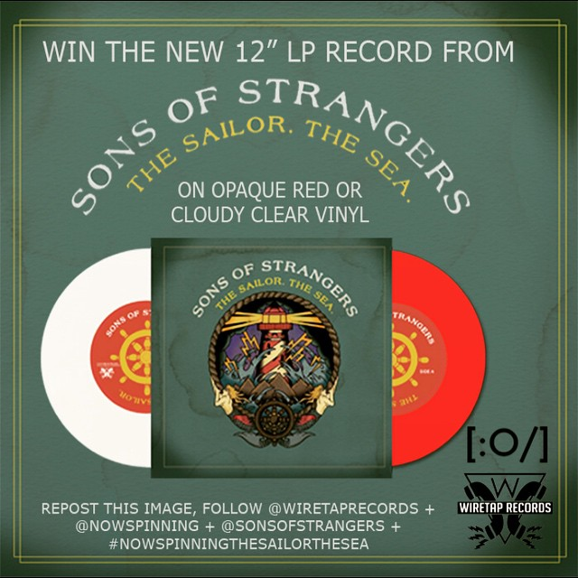 "Want to Win our new 12"" LP. Kicking off a contest with our friends @nowspinning To Enter Follow @wiretaprecords @nowspinning and @sonsofstrangers and Repost this image along with the tag #nowspinningthesailorthesea Click on our bio to listen to the new track ""Well Paid Slave"" from the new record ""The Sailor. The Sea"" that comes out this Tuesday July 14th.NOTE: Your account must NOT be private to qualify. #sonsofstrangers #wiretaprecords#nowspinning #TheSailorTheSea #vinyl#vinylcollection #vinylcollectionpost #records#recordcollection #music #vinyligclub#"