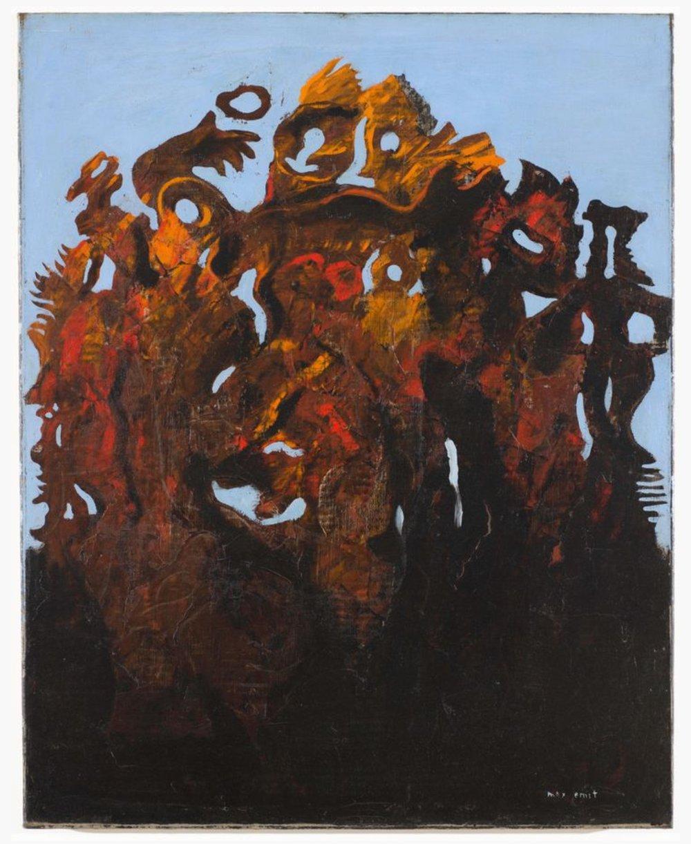 Max Ernst  , La famille nombreuse (The Numerous Family) , 1927