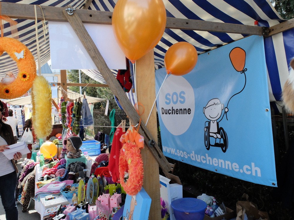 Auftritt des Vereins SOS-Duchenne am Frühlingsmarkt 2014 in Wädenswil