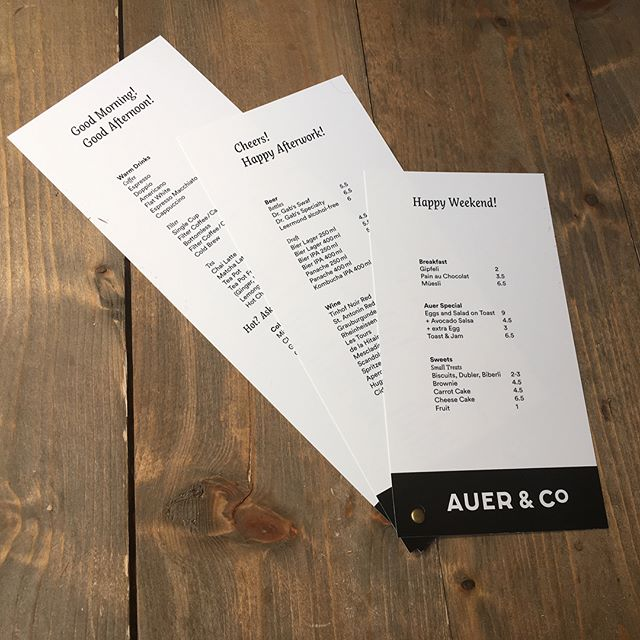 #menu #goodmorning #cheers #happyweekend for #auercoffee #impacthubzurich
