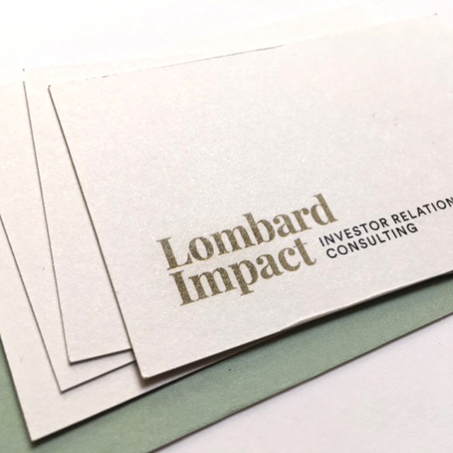 #corporateidentity #lombardimpact #investoreelations #consulting #businesscard