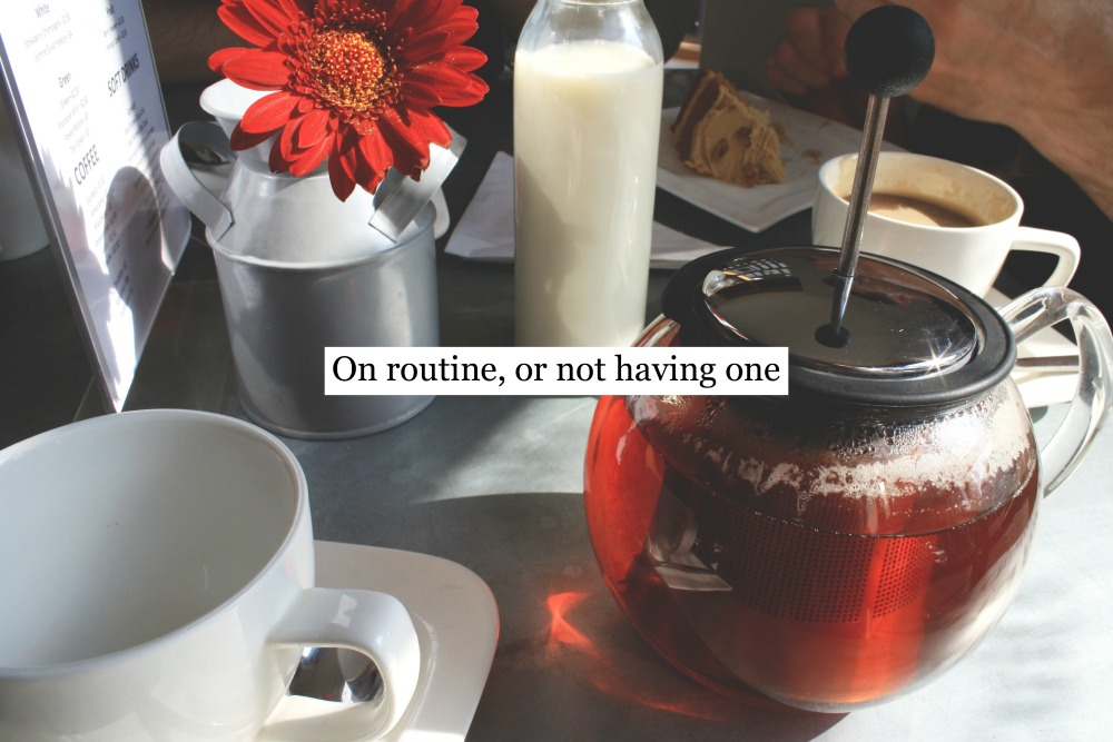 On routine, or not having one, Winchester