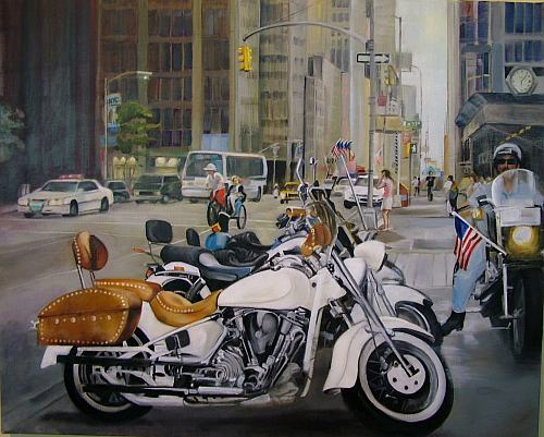 "911 Tribute, 24 x 30"", oil on canvas"