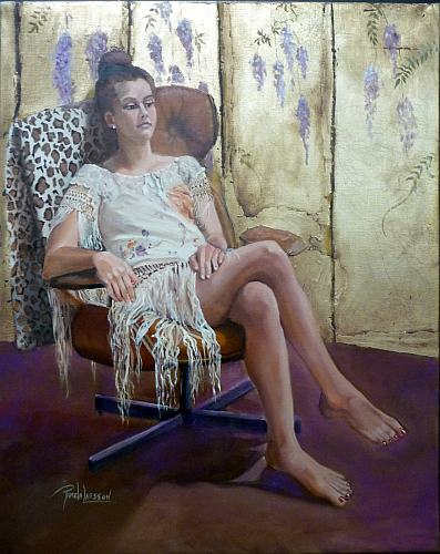 "Natalie, 16 x 24"", oil on linen"