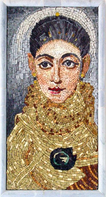 "Fayum Portrait, 26 x 14"""