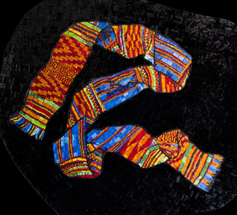 Kente Cloth, 27 x 30""