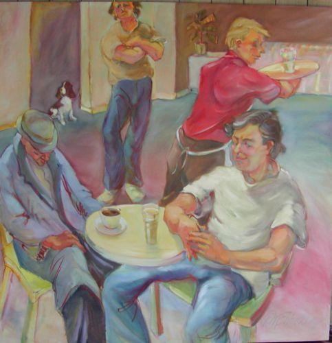 "The Waiter,60 x 60"""