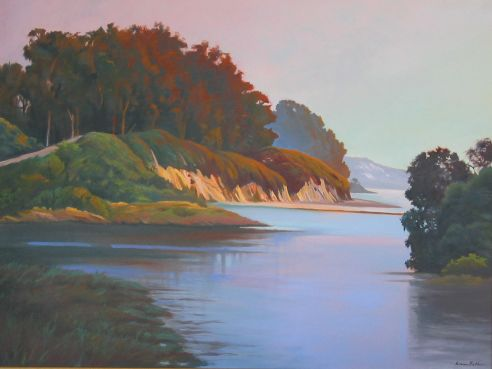 Goleta Beach Cliffs, 30 x 40""