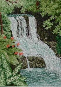 """Namo Falls,7.5 x 10"""""""