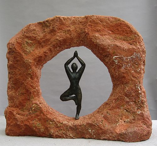 Arch, 25 x 22 x 10, Peruvian Travertine/Bronze
