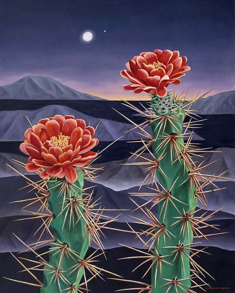 """Wild Euphorbia"" Oil on Canvas 60 x 48"""