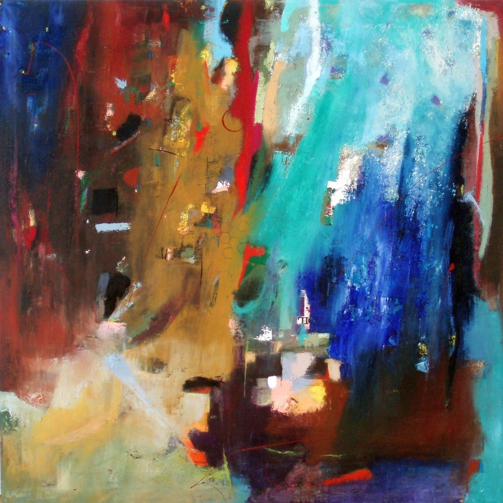 "Abstract 8, 36"" x 36"", oil on canvas"