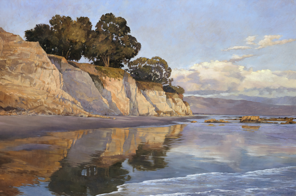 Shoreline at Dusk 24x36 oil / linen