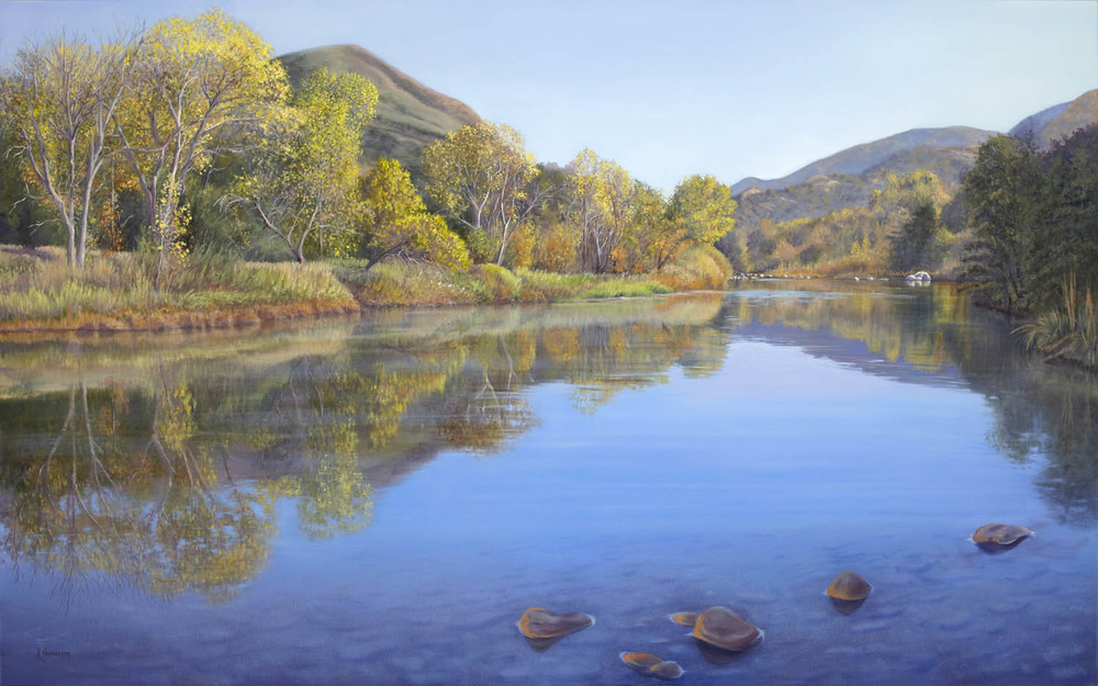 Autumn Reflection, oil, 50x80""