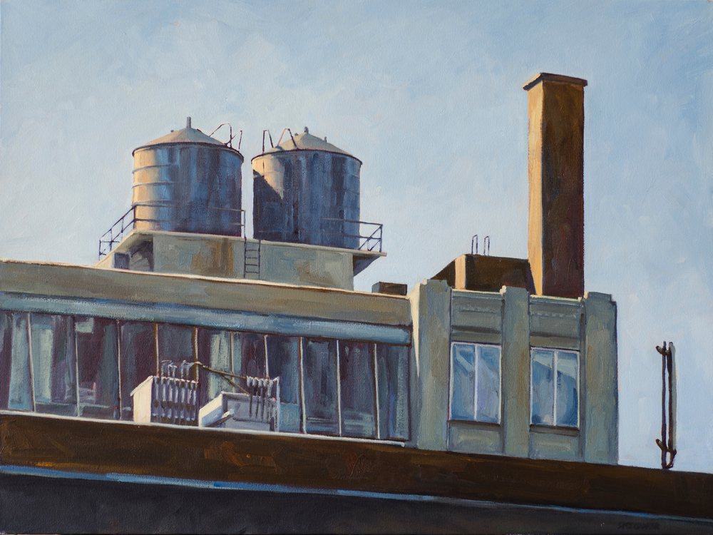 "The Loft, No. 2, oil on canvas, 24"" x 32"""