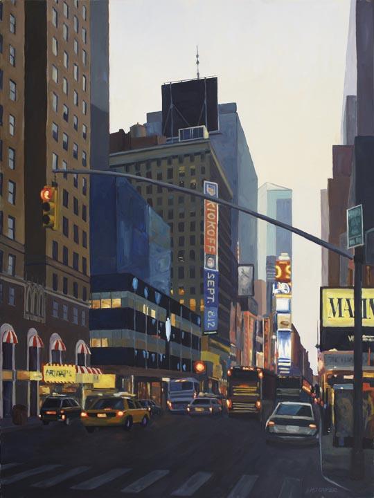 "Break Lights, No. 16, oil on canvas, 48"" x 36"""