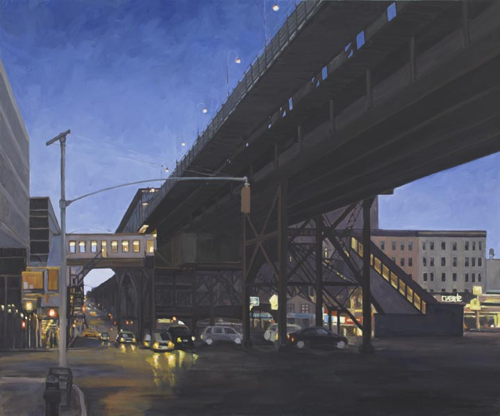 "Broadway Local, No. 25, oil on canvas, 40"" x 48"""