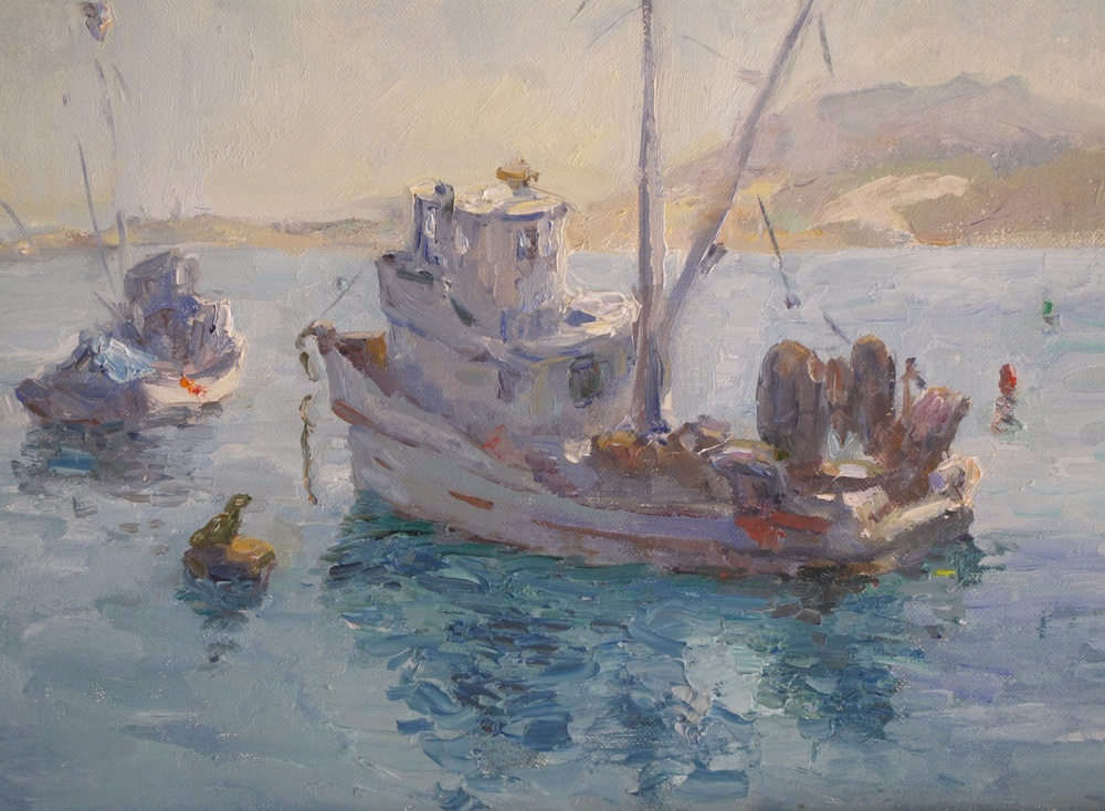 Monterey Anchorage   Oil     9 x 12