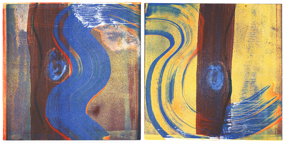 Sway with Me, Monotype (Diptych), 12 x 24 in