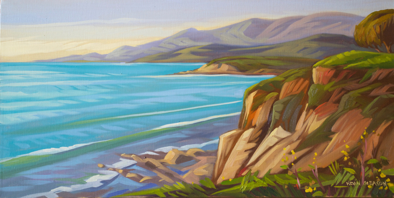 Rancho Dos Pueblos, Oil on Canvas 12x24""