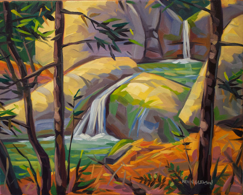 Cold Springs Canyon Pool, Oil on canvas 16x20""