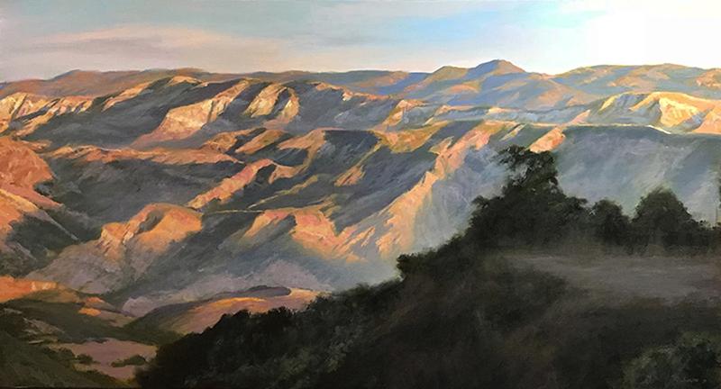 Morning Sun, SB Backcountry oil on canvas 26x48