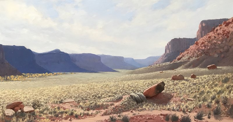 Bears Ears, oil, 10x20