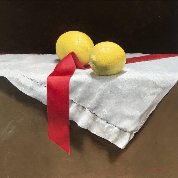 Lemons, oil, 12x12