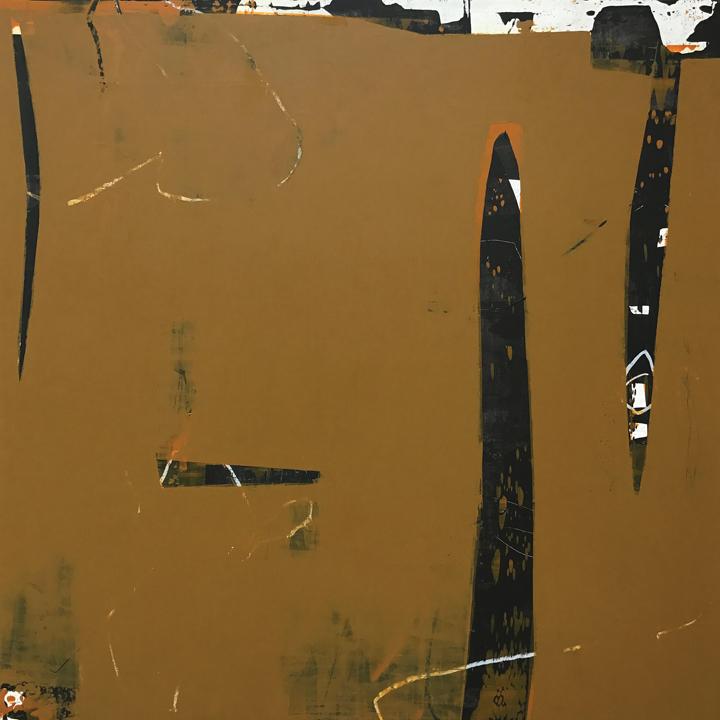 """Rawhide, Acrylic/mixed media on panel, 30x30"""""""