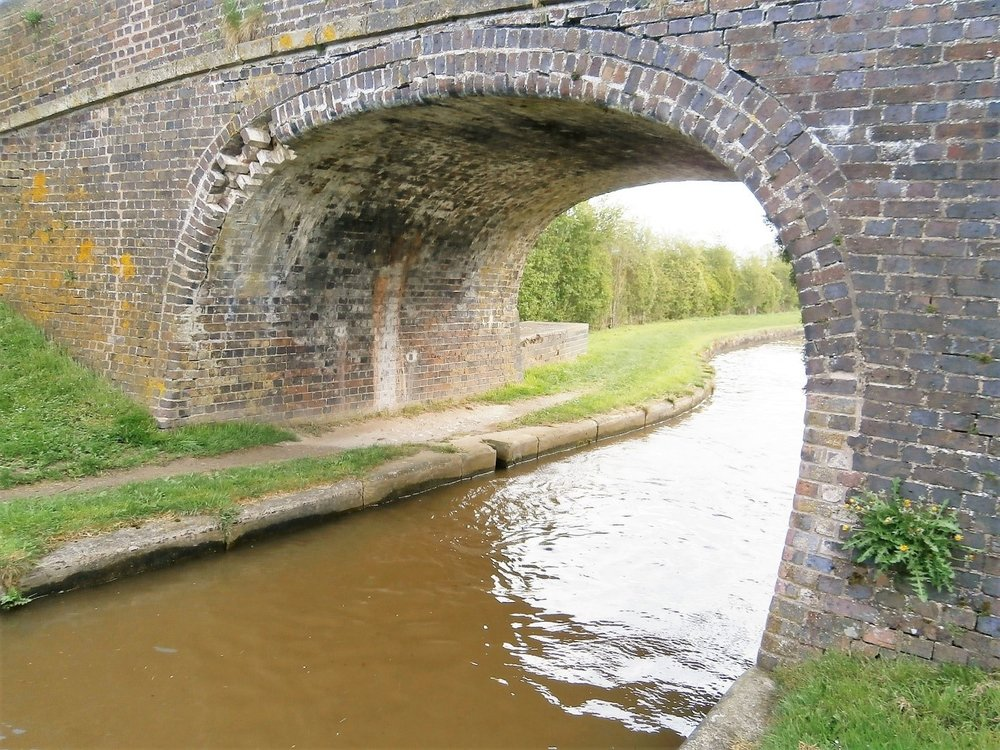 General view including towpath and obvious damage