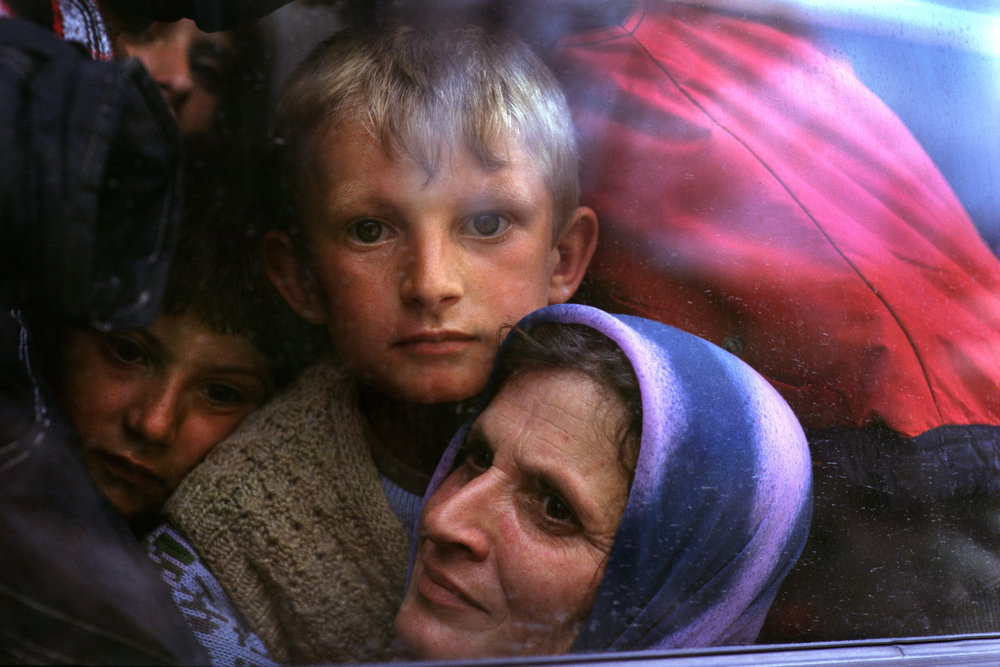 "Kosovar-Albanian refugees. Albania, 1999.<span class=""photo-essays-link""><span class=""separator"">・</span><a href=""/photo-essays"">Photo-essays</a></span>"